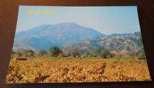 Vintage Postcard Mt St. Helena Napa County Wine Country