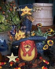 """Patti's Ratties Primitive Halloween Pumpkin Star 9"""" Doll Paper Pattern #677"""