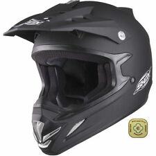 Motocross & ATV Plain Matt Helmets ACU Approved