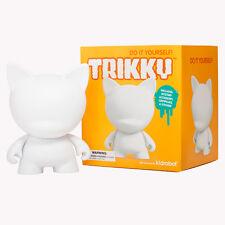 Kidrobot Munnyworld Trikky 7 Pulgadas-Artesanales En Blanco Hágalo usted mismo figura de vinilo suave