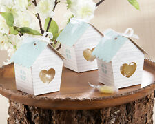 10x Bird House Wedding/Baby Shower/Birthday Party Favour Boxes Incl Ribbon +Tag