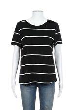 de581a5e67 ZARA W&B T-Shirt Large Organic Cotton Black White Stripes Short Sleeve Tee  Top