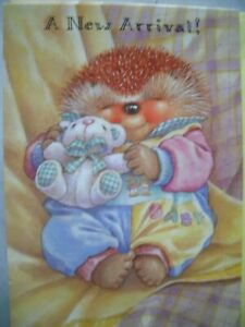 A NEW ARRIVAL With Love To You (Baby Hedgehog & Bear) Country Companions Card