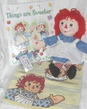 "15"" Raggedy ANN Gift Bag Set  Camel Key Chain, Gift Bag and Large Washcloth"