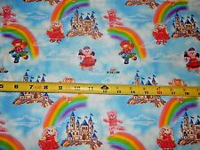 Build a Bear Princess Castle Blue 10126 Print Concepts Cotton fabric