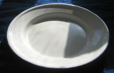 Lovely white enamel plate blue rim Bumper harvest China 24 cm diameter