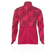 Asics Womens Lite-Show Winter Running Jacket Top Pink Red Sports Windproof Warm