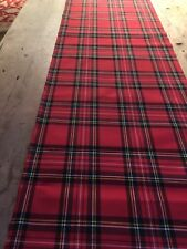 "NEW TARTAN RUNNER - ' ROYAL STEWART ' OILCLOTH   16"" X 88"""
