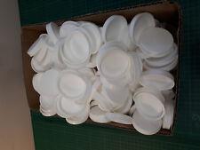Plástico Extremo Tapas Repuesto para Tubo Postal Blanco Tamaño 2'' - 200 Paquete