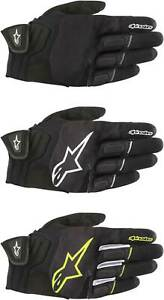 Alpinestars Atom Gloves - Motorcycle Street Riding Mens Textile Touch Screen