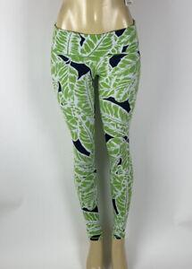 ALO Yoga Airbrush Leggings Palm Springs Lime Fern Tree Leaf Womens Small