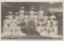 London Real Photo Postcard. Nurses. Nelson Hospital. Merton Park. Scarce! c 1915