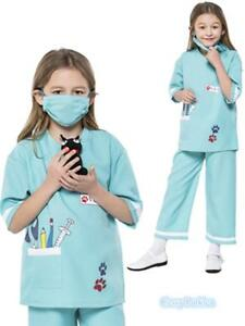 M4-3 Child Nurse Doctor Girls Hospital Vet Book Week Kids Dress Costume Outfit