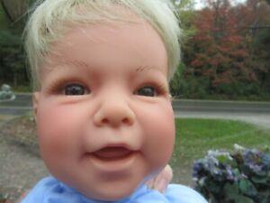 "Lee Middleton Doll Brown Eyes Blond Hair ""Mothers Joy"" Sculpt by Reva 1998"