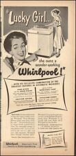 1951 Vintage ad for Whirlpool automatic washing machine retro appliance (090518)