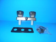 *RV SHOWER FAUCET WITH DIVERTER FOR SHOWER BRUSH NICKEL EMPIRE SMOKE HANDLES