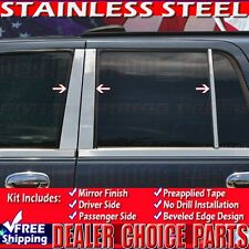 1998-2017 Lincoln Navigator 6PC Stainless Steel Pillar Posts Trims Overlays