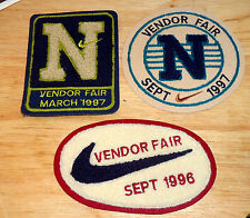 NIKE VENDOR FAIR PATCH SET OF 3 1996/1997 RARE HTF PATCHES FREE SHIP in USA