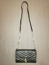 Rebecca Minkoff Black Quilted Leather Zip Removable Crossbody