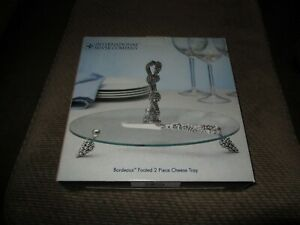 NEW IN BOX International Silver Company Footed Cheese Tray W/ Silver Knife