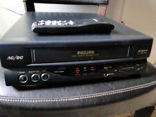 PHILIPS VP225/58 VHS AC/DC VCR Video Cassette Recorder Original Remote PAL