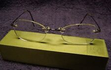 Marchon Airlock 2 Bronze Eyeglasses 760 62 135 rimless with Marchon Case