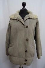 Women's Owen Barry Grey Sheepskin Coat Size 12 KK1283