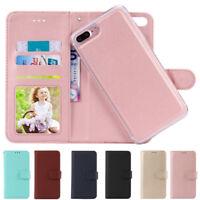 Removable Magnetic Leather Flip Wallet Case Cover for iPhone XR XS Max 7 8 Plus