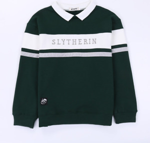 Harry Potter Slytherin Quidditch Team Hooded Unisex Sweater Coat Top for Child