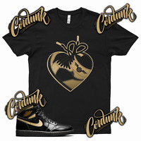 Black LOVED ONES T Shirt match Jordan 1 Metallic Gold SE Patent Leather Mid