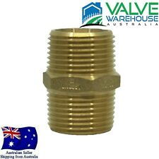 "Brass Hex Nipple Male Threaded BSP Tapered - 1/8"" Inch to 4"" Inch - Watermarked"