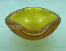 MURANO --- ASCHER GLAS ---- gelb mit viel Goldflitter, schwer
