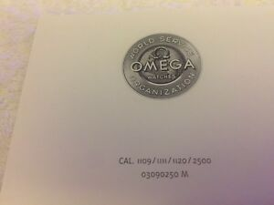 Omega Operating Instruction Booklet, Calibre 1109/1111/1120/2. 1999, Rare!