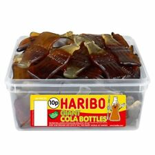 Haribo Giant Cola Bottles Sweets - 60 in Tub - Party bag filler wedding favour