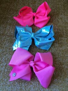 JOJO SIWA BOWS HAIR BOW BUNDLE CLIP IN HAIR ACCESSORY