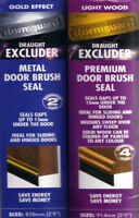 Door Bottom Brush draught excluder sweep seal White Brown Silver or Gold