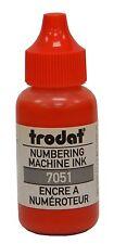 RED Trodat Numbering Machine Stamp Refill Ink 1oz Bottle