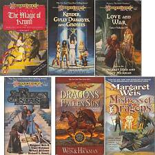 Lot 6 PB Margaret Weis PB DRAGONS FALLEN SUN MISTRESS MAGIC LOVE KINDER REIGN