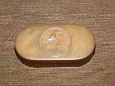 "New ListingVintage Tin 2 3/4"" Wide Jonteel Bird Of Paradise Brass Powder Compact *Empty*"