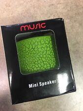 Wireless Bluetooth Speaker Mini Bass Speaker USB Music Speaker Green NIB