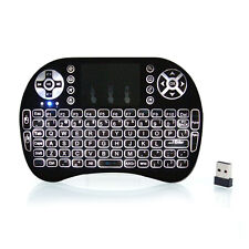 2.4GHz LED Backlit Wireless Keyboard Touchpad for PC Smart TV Box Android Tablet