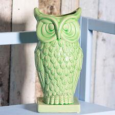 Green Owl Shaped Ceramic Vase Flowers Jug Display Ornament Home Decoration Gift