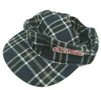 Ole Miss University Rebels Womens Plaid Cadet Military Style Plaid Hat Cap Bling
