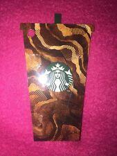 Starbucks Chocolate Iced  Frappuccino Brown Card 2017 UK Coffee 6136