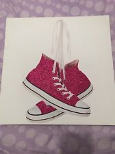 Rose Brillant Converse Type Chaussure 12x12 toile