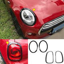 For Mini Cooper F55 F56 Black Front + Rear Headlights Light Lamp Cover Trim 4pcs
