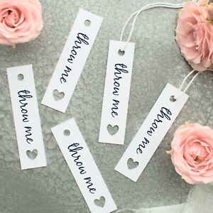 Throw Me Confetti Tags Ideal for Wedding Favours Kraft Ivory or White