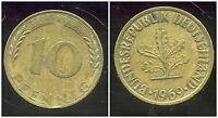 ALLEMAGNE GERMANY 10 pfennig 1969 J ( ca )