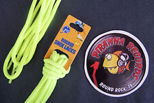 "Neon Yellow Thin Round 54"" x (1/8""-3/8"") JN Shoelaces Shoe Strings Piranha"