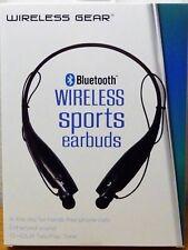 Wireless Gear Bluetooth Sports Earbuds  Model G0481 NEW Black